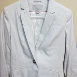 H&M Blue and White Stripe Blazer